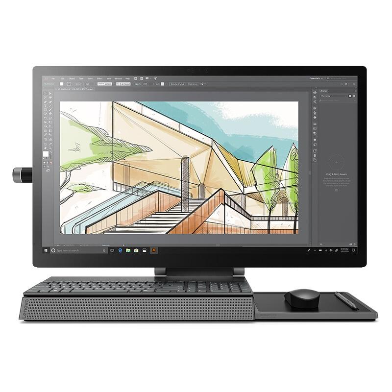 联想(Lenovo)Yoga A940设计师电竞游戏一体机台式电脑27英寸4K高清多点触摸100% Adobe RGB色域