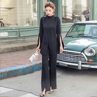 时尚洋气阔腿裤套装女装2020年秋季新款气质早秋女神范秋装两件套