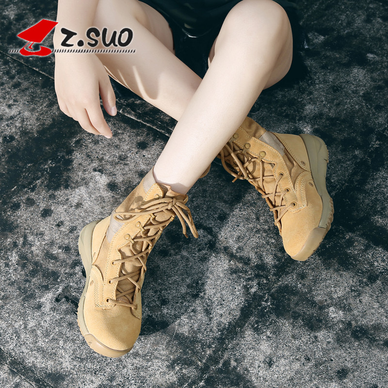 Mens shoes desert boots mens spring British Cowboy Boots Mens Martin Short Boots fashion military boots for lovers