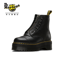 Dr. Martens Martin Sinclair Front Zipper Muffin Base Martin Boots Women's Black Fashion