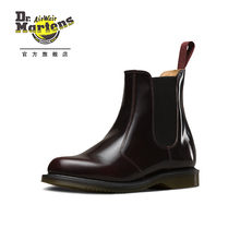 Dr. Martens Martin, high gloss leather Chelsea boots, women's trend, fashionable short boots