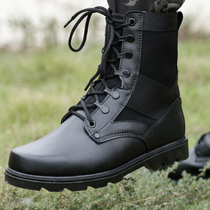 Shield lang outdoor boots desert Boots Combat boots tactical boots flying boots male genuine high gang black Army fans mountaineering boots