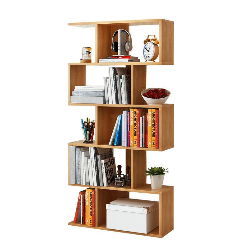 简易书架落地置物架收纳飘窗学生用桌面小书架陈列展示架隔断书柜不包邮