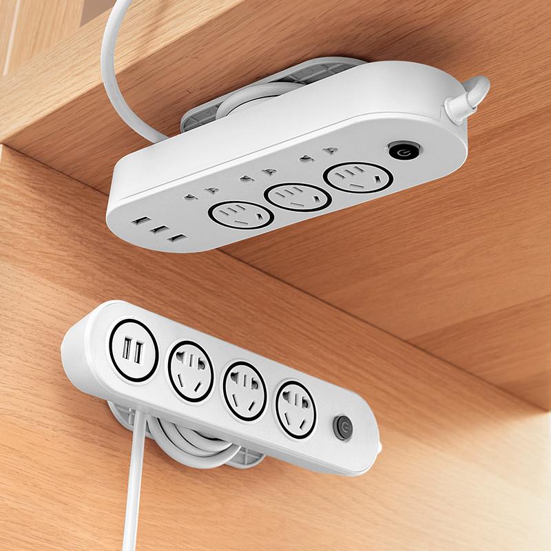 收纳上墙插座面板多孔多插位插排移位器多功能插板带线插线板移动