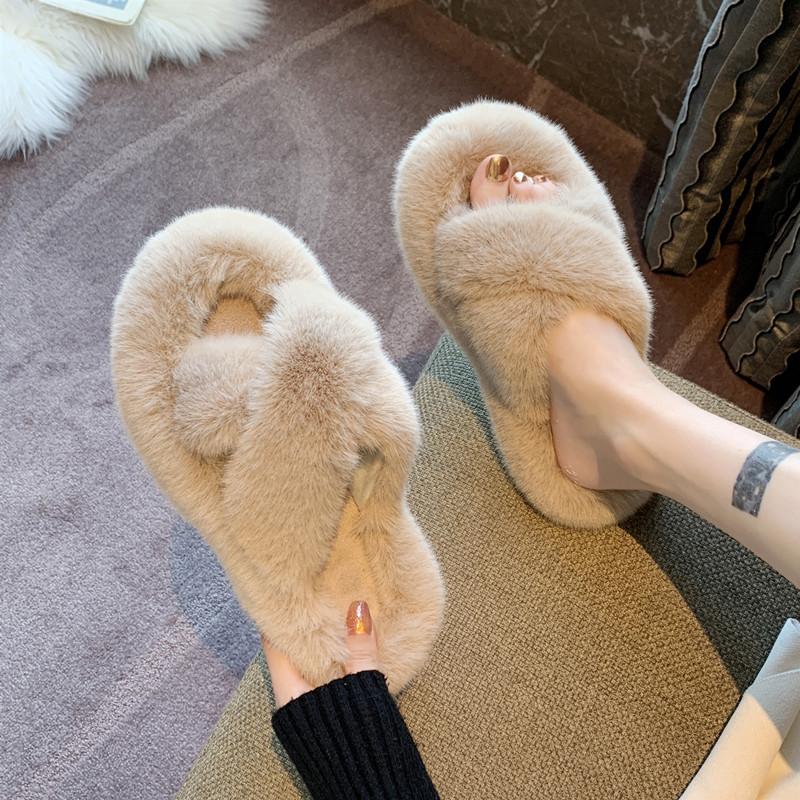毛毛拖鞋女外穿2021新款韩版ins潮鞋秋冬家用家居棉拖鞋子春夏季