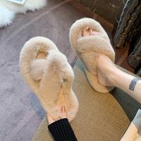查看毛毛拖鞋女外穿2021新款韩版ins潮鞋秋冬家用家居棉拖鞋子春夏季价格