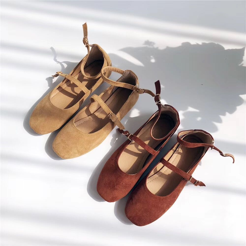 Net red shoes children spring 2021 New Retro Mary Jane flat shoes strap fairy gentle single shoes ballet shoes