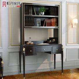 虹丹轻奢书桌家用全实木书房现代简约小户型电脑学习桌省空间桌子图片