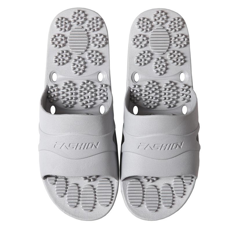 足底按摩凉拖鞋男 夏季情侣家居家室内浴室防滑速干鞋 男外穿托鞋