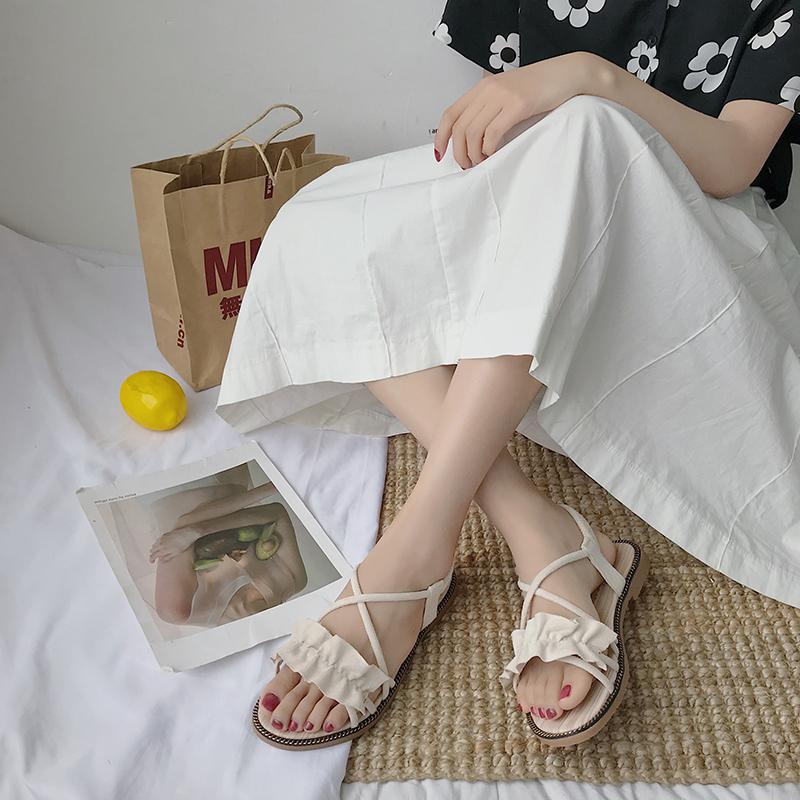 限时秒杀搭配裙子的2019新款夏季百搭风凉鞋