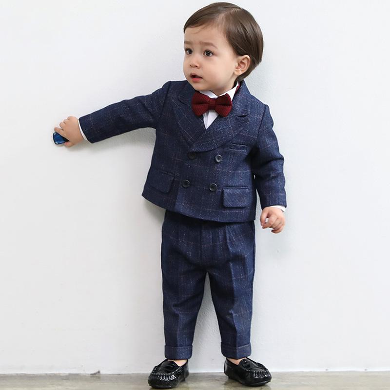花童男童禮服套裝兒童西裝帥氣英倫小童小西裝周歲生日男寶寶韓版
