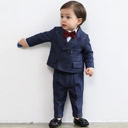 花童男童礼服套装儿童西装帅气英伦