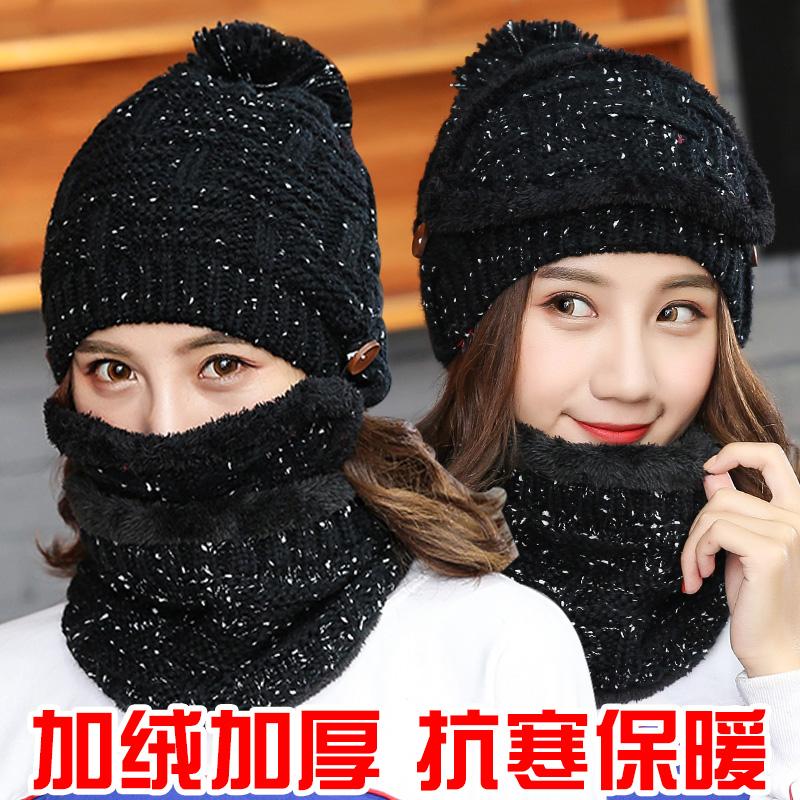 冬季加厚冬天女帽新款女士冒子女帽秋冬时尚秋冬季帽子保暖加绒帽