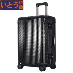 【耐磨款】日本行李箱女24寸铝框PC拉杆箱万向轮旅行箱男登机箱