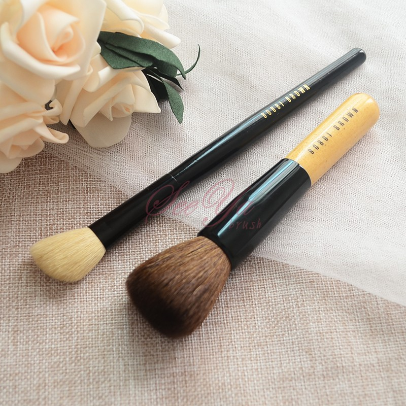 On sale special brush B0BBIBR0WN medium pole wool flat head powder brush Bobbi brush, bevel, high gloss brush.