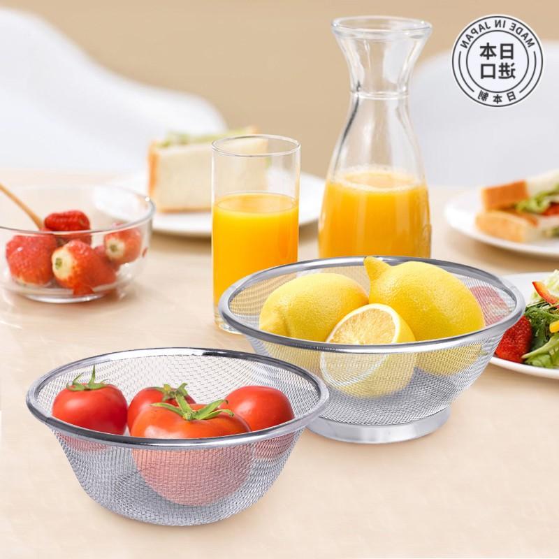 日本购日本进口不锈钢沥水盆厨房洗菜篮沥水篮洗菜盆漏盆淘米盆洗
