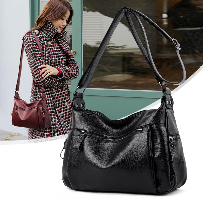 Kangaroo leather womens Bag Messenger womens bag 2020 new mothers Single Shoulder Bag Fashion versatile leather bag soft leather