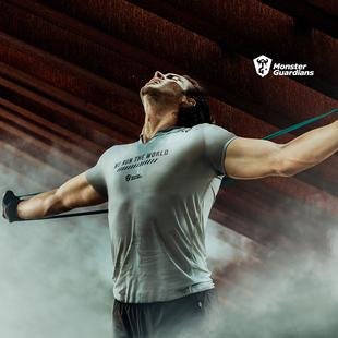 夏季 Guardians 跑步V领运动轻量短袖 Monster 男速干排汗健身T恤