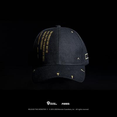 Monster Guardians 品牌定制原创健身潮牌暗夜黑金运动鸭舌帽
