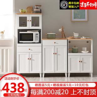 实木餐边柜现代简约厨房柜子储物柜多功能客厅茶水柜碗柜微波炉柜价格
