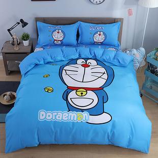 哆啦a梦四件套可爱卡通床上纯棉全棉儿童床单被子芯三件套男女孩图片