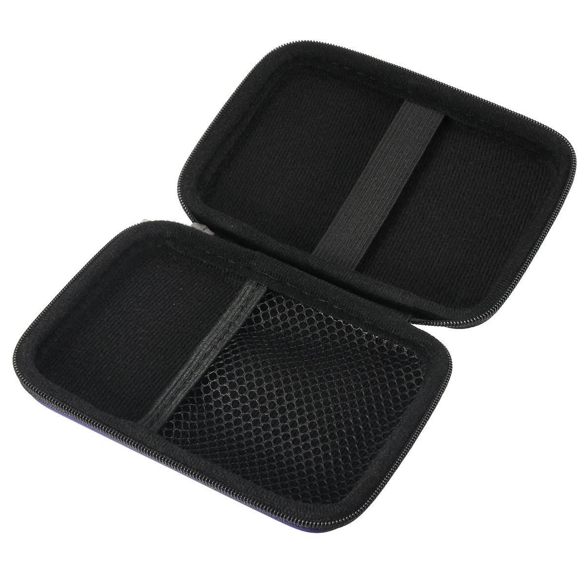 Portable Hard Disk Drive Shockproof Zipper Cover Bag Case 2.