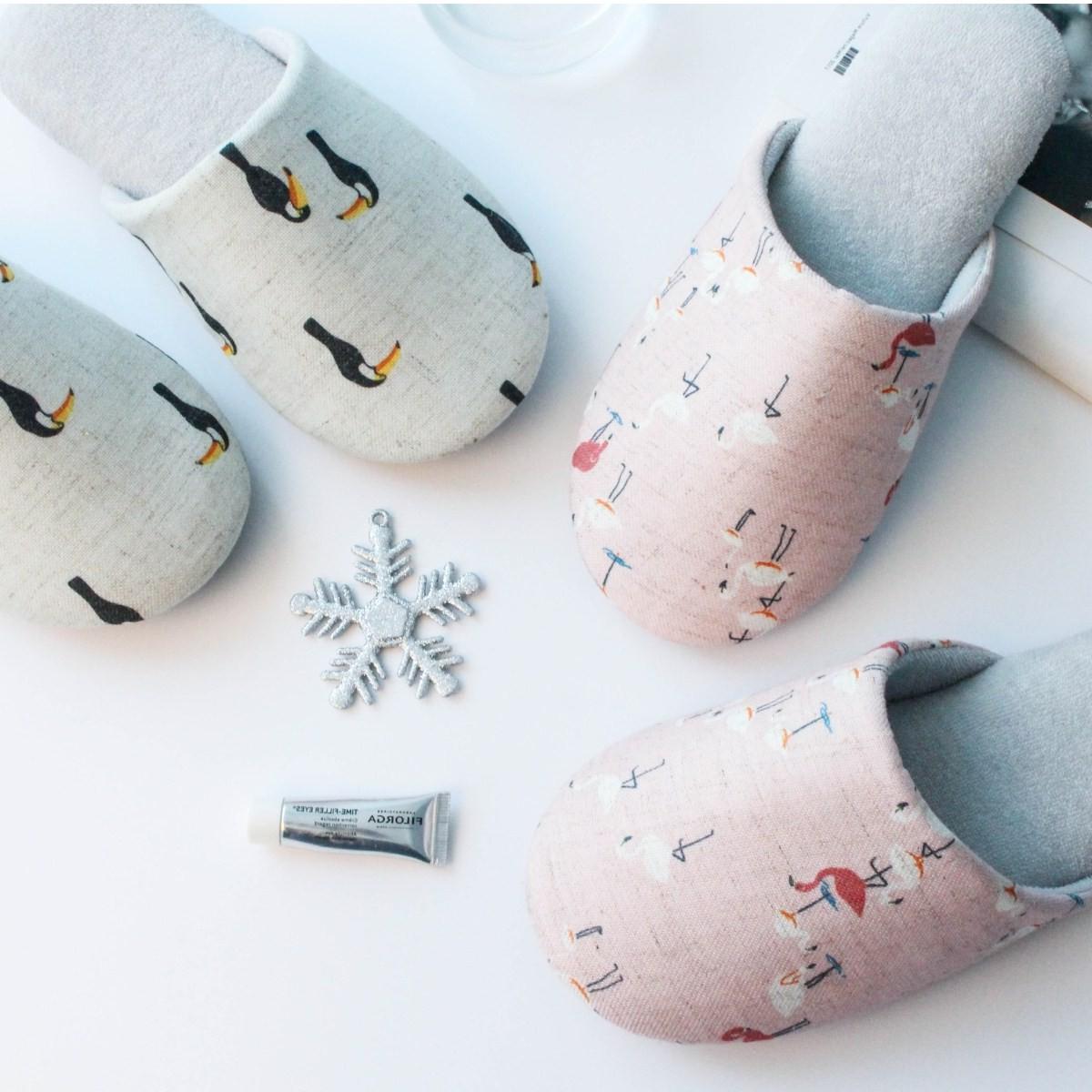 清新可爱小动物拖鞋家居儿童棉麻橡胶防滑儿童小码儿童亲子
