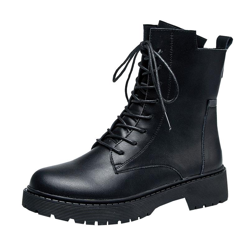 马丁靴女夏季透气薄款2020新款春秋单靴百搭英伦风厚底机车短靴子