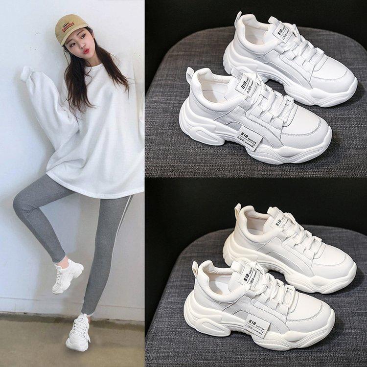 恋晴薇2019新款韩版小白鞋一脚蹬懒人鞋百搭女鞋子洋气
