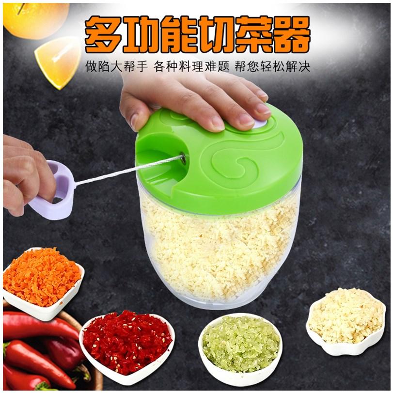 拉菜神器厨房蒜臼拉大蒜泥器手动打碎菜机蒜蓉家用捣蒜切蒜绞压蒜