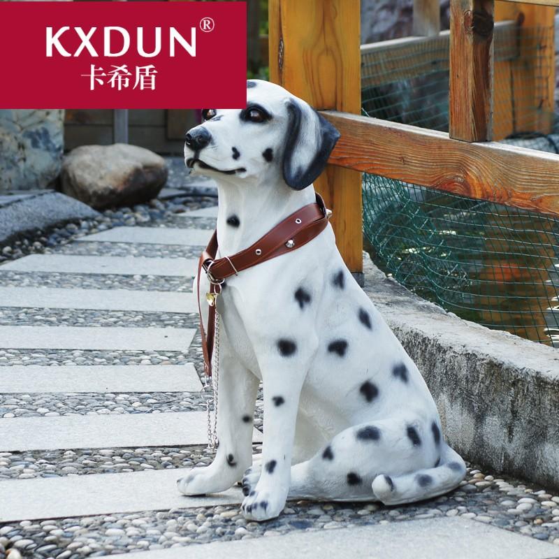 KXDUN/卡希盾仿真狗摆摆件树脂声控斑点狗犬大麦狗家居装饰MF0227
