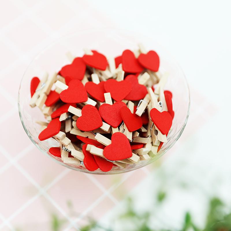 Мисс Фотоальбом красный Любовь клип Деревянный клип Фото деревянный клип Фото деревянный клип