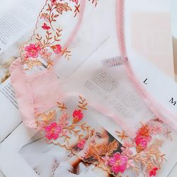 薄款透明内裤性感全透视女士低腰三角裤韩版公主裤裆100%纯棉雪纺