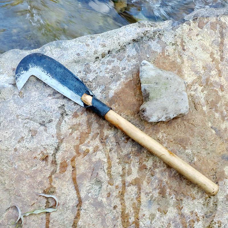 Открытие ручной работы кованое борьба на открытом воздухе дрова нож сельское хозяйство использование серп мотыга дрова нож вырезать бамбук нож старый ручной работы нож 111920
