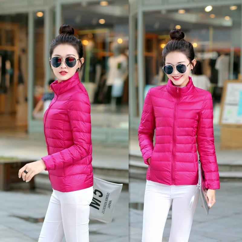 秋冬季新款立领时尚短款轻薄羽绒棉服女韩版保暖棉衣显瘦外套女装