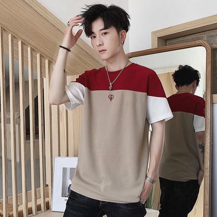 杜梵伦2019新款夏季男士短袖t恤上衣百搭男装衣服学生体恤打底衫