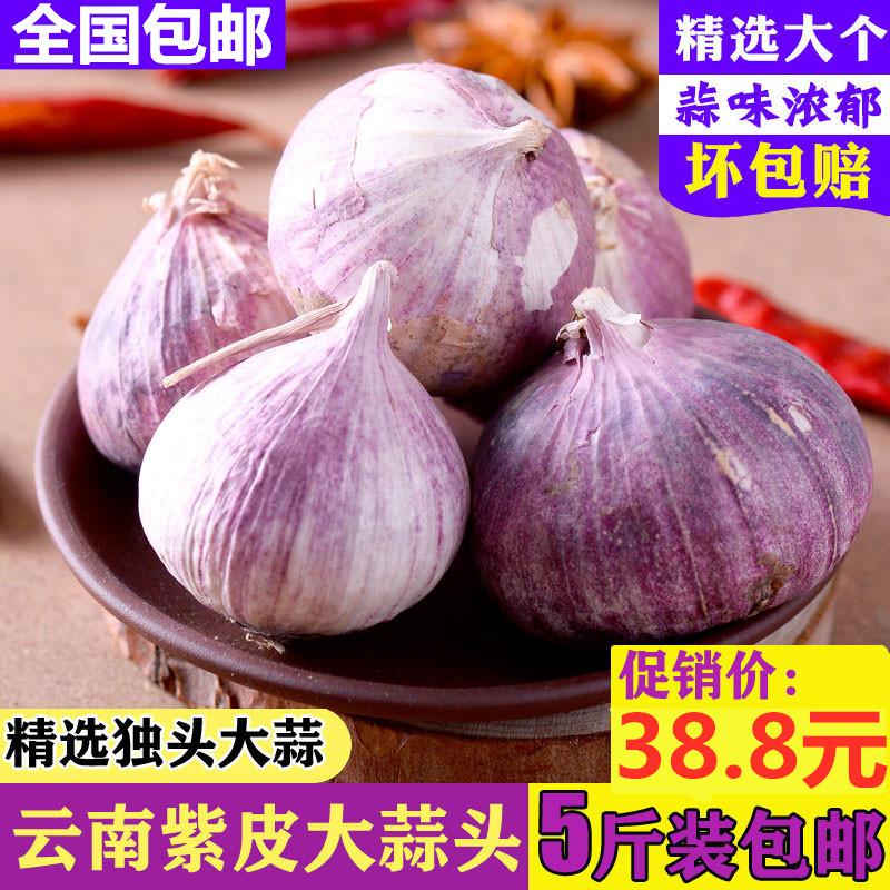 云南2020大理新鲜紫皮独头蒜农家产品红皮独蒜5斤低价包邮湿蒜