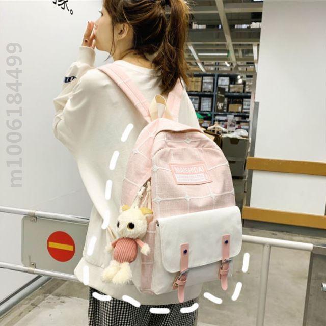 ins风书包女学生韩版初高中大容量网红少女校园原宿时尚双肩包