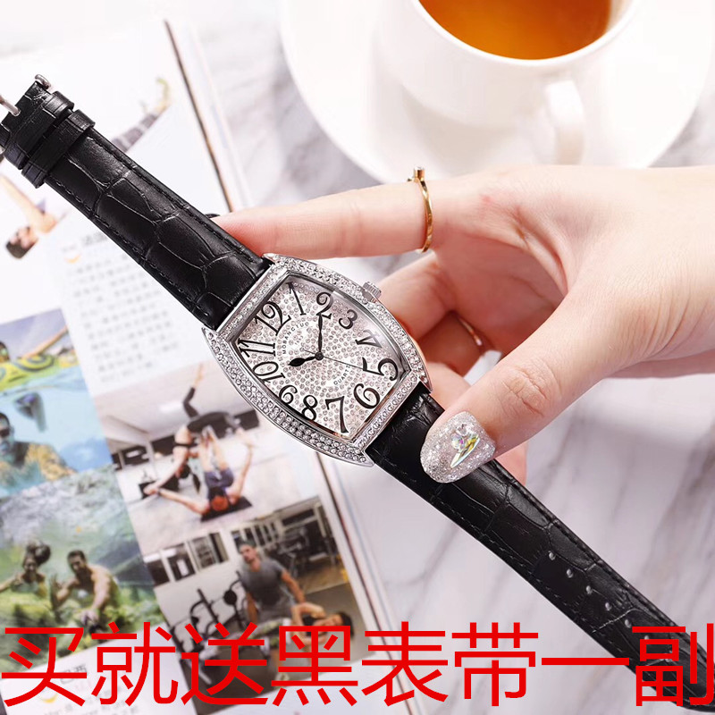 Tiktok, red sky, vibrant voice, lovers table, real leather, full barrel, FM shaped Kwai star watch, mens and womens watches.