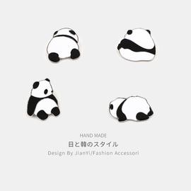 熊猫胸针女可爱ins潮个性动漫徽章卡通别针装饰创意百搭学生配饰图片