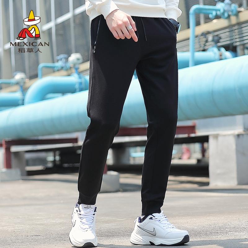 韩版潮流裤子男修身小脚九分运动裤热销32件需要用券