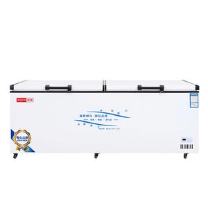 智能温控赫强铜管大冰柜 卧式商用节能大冷柜冷冻柜冷藏柜保鲜柜