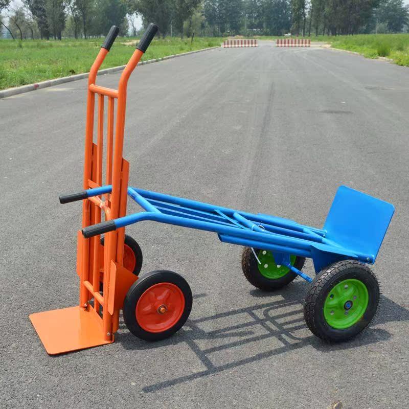 电动拉砖车工地用平板搬砖手推拉车爬坡载重王建筑两轮助力搬运车图片