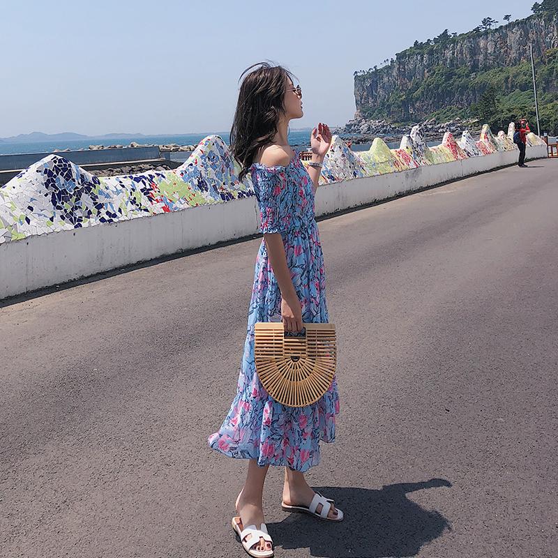 欧洲站女装淘宝网京东商城正品2018夏装显瘦气质连衣裙