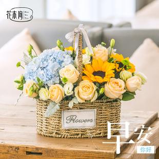 鲜花速递玫瑰西安咸阳宝鸡汉中长沙广州南京手提花篮合肥生日同城图片