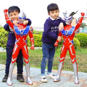 超大号赛罗奥特曼玩具儿童超人泰罗卡片银河迪迦变身器男孩套装