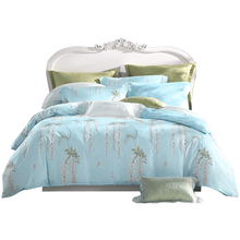 Meng Jie Mei Song pure cotton bedding four sets of cotton bed sheet quilt cover 1.8 meters double pastoral style