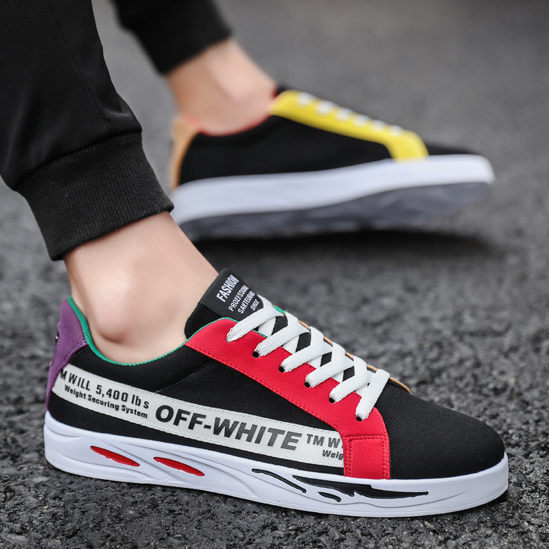 2018夏季新款男鞋子帆布鞋韩版潮流男士休闲百搭潮鞋ins超火板鞋