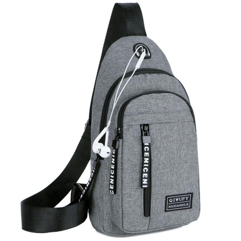 Mens chest Bag Canvas Shoulder bag leisure running bag cross mountaineering bag capacity Mini Bag waist bag mens strong bag