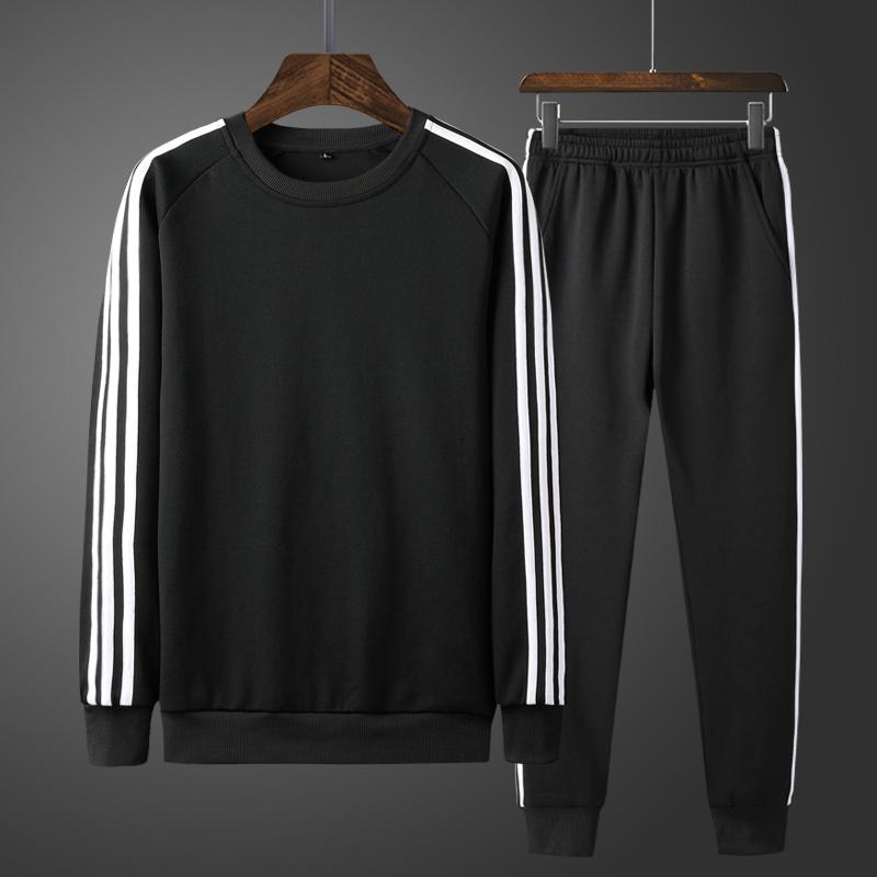 男装秋装运动套装男长袖两件套男士卫衣套装运动服宽松休闲裤套装